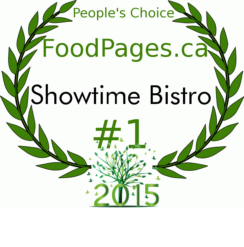 Showtime Bistro FoodPages.ca 2015 Award Winner